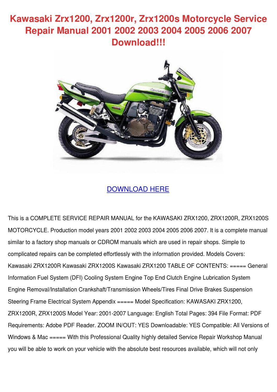 Kawasaki Zrx1200 Zrx1200r Zrx1200s Motorcycle by BridgettArevalo ...