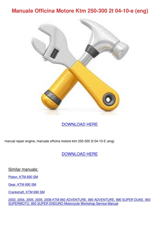 manuale officina motore ktm 250 300 2t 04 10 by. Black Bedroom Furniture Sets. Home Design Ideas