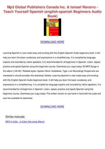 Mp3 Global Publishers Canada Inc Ismael Navar by EltonCockrell - issuu