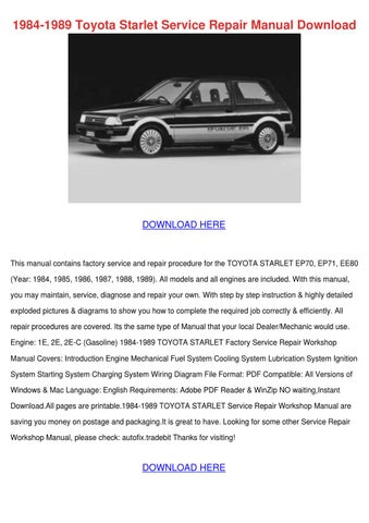 1984 1989 toyota starlet service repair manua by juanitaharding issuu rh issuu com