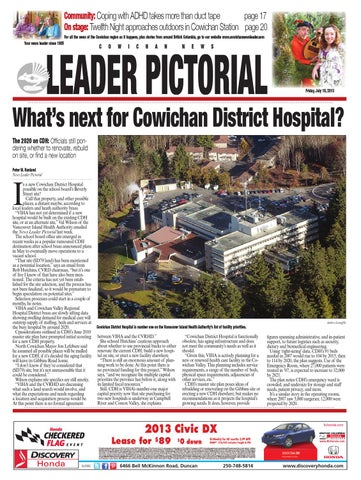 Cowichan News Leader Pictorial, July 19, 2013 by Black Press Media on