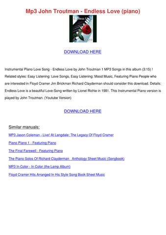 Mp3 John Troutman Endless Love Piano