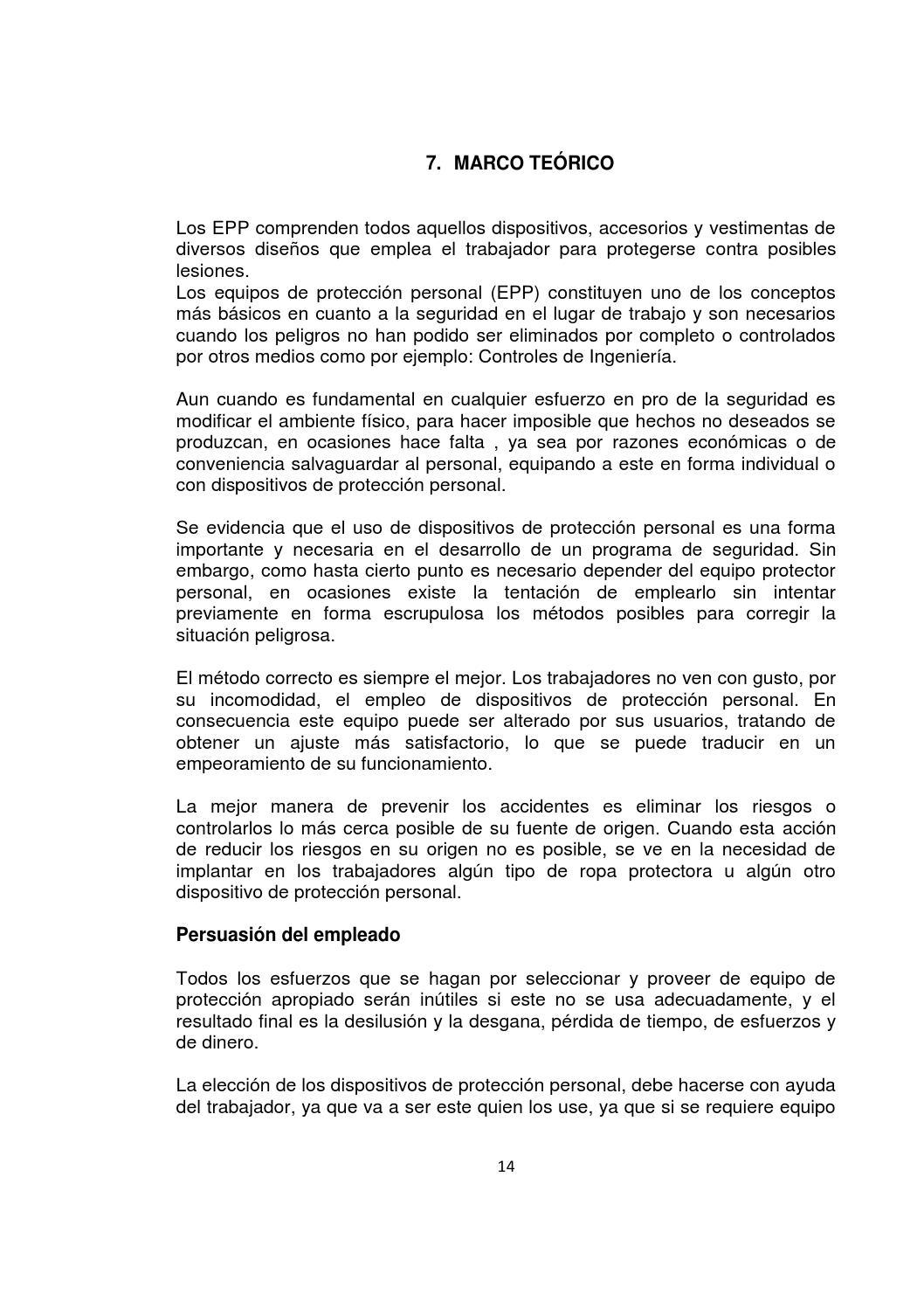 PAGINA WEB SOBRE EL USO DE LOS EQUIPOS DE PROTECCION PERSONAL by ...