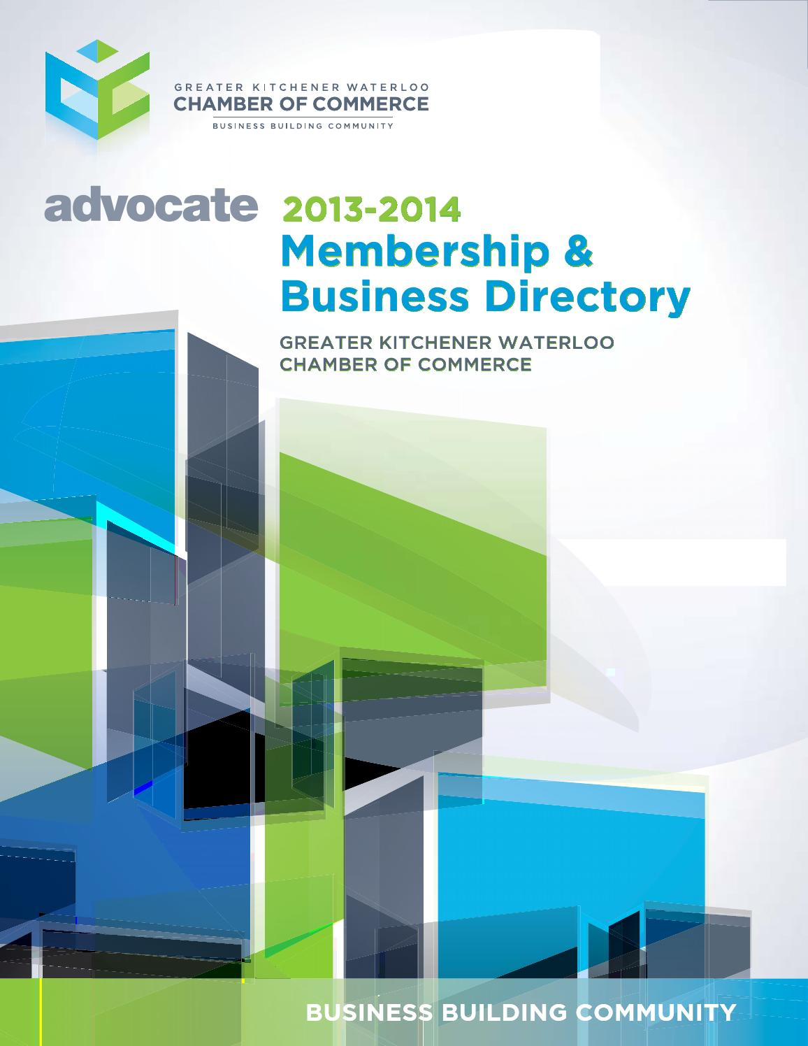 Small Business Centre Kitchener 2013 2014 Greater Kw Chamber Advocate Membership Directory By