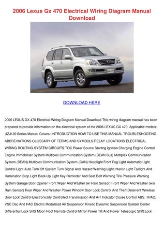 2006 lexus gx 470 electrical wiring diagram m by meaganjewett issuu 2006 lexus gx 470 electrical wiring diagram manual
