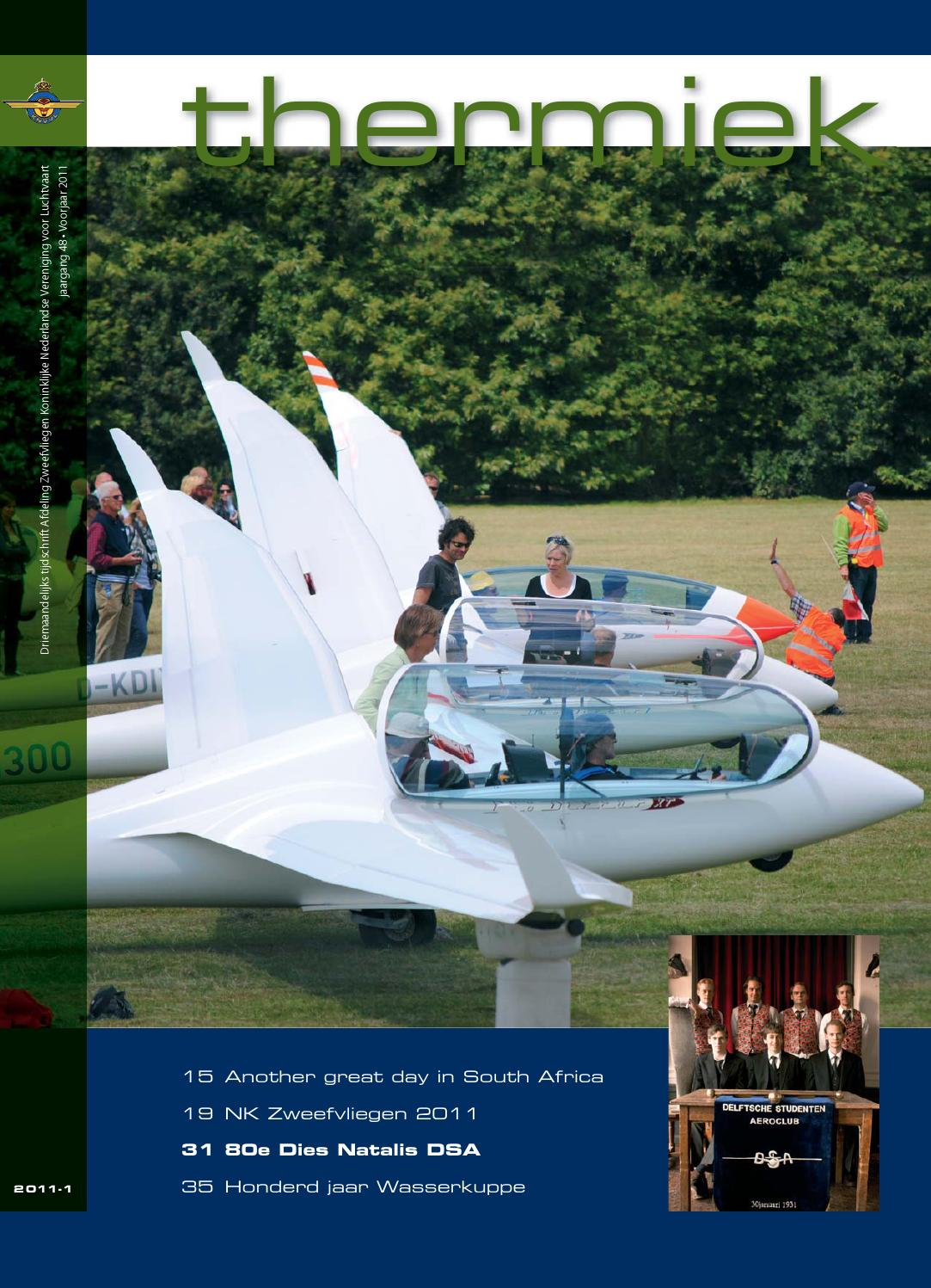 Thermiek 2011 1 By Knvvl Afdeling Zweefvliegen Segelfliegen