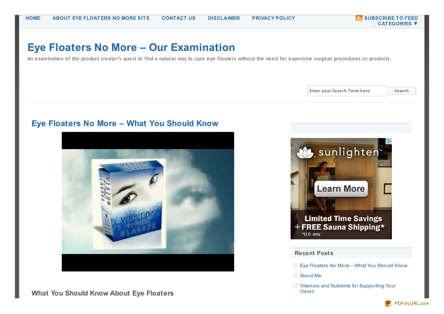 Eye Floaters No More – Our Examination by Sean Hussey - issuu