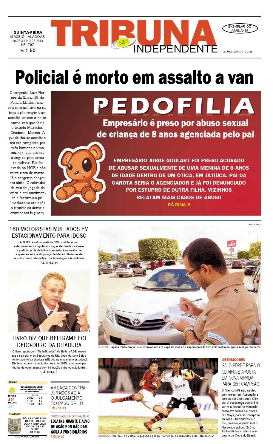 19b3b1ff7a5 Edição número 1797 - 18 de julho de 2013 by Tribuna Hoje - issuu
