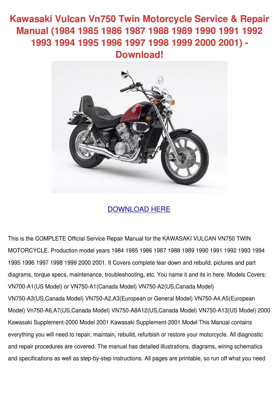 Kawasaki Vulcan Vn750 Twin Motorcycle Service by OnaNealy - issuu