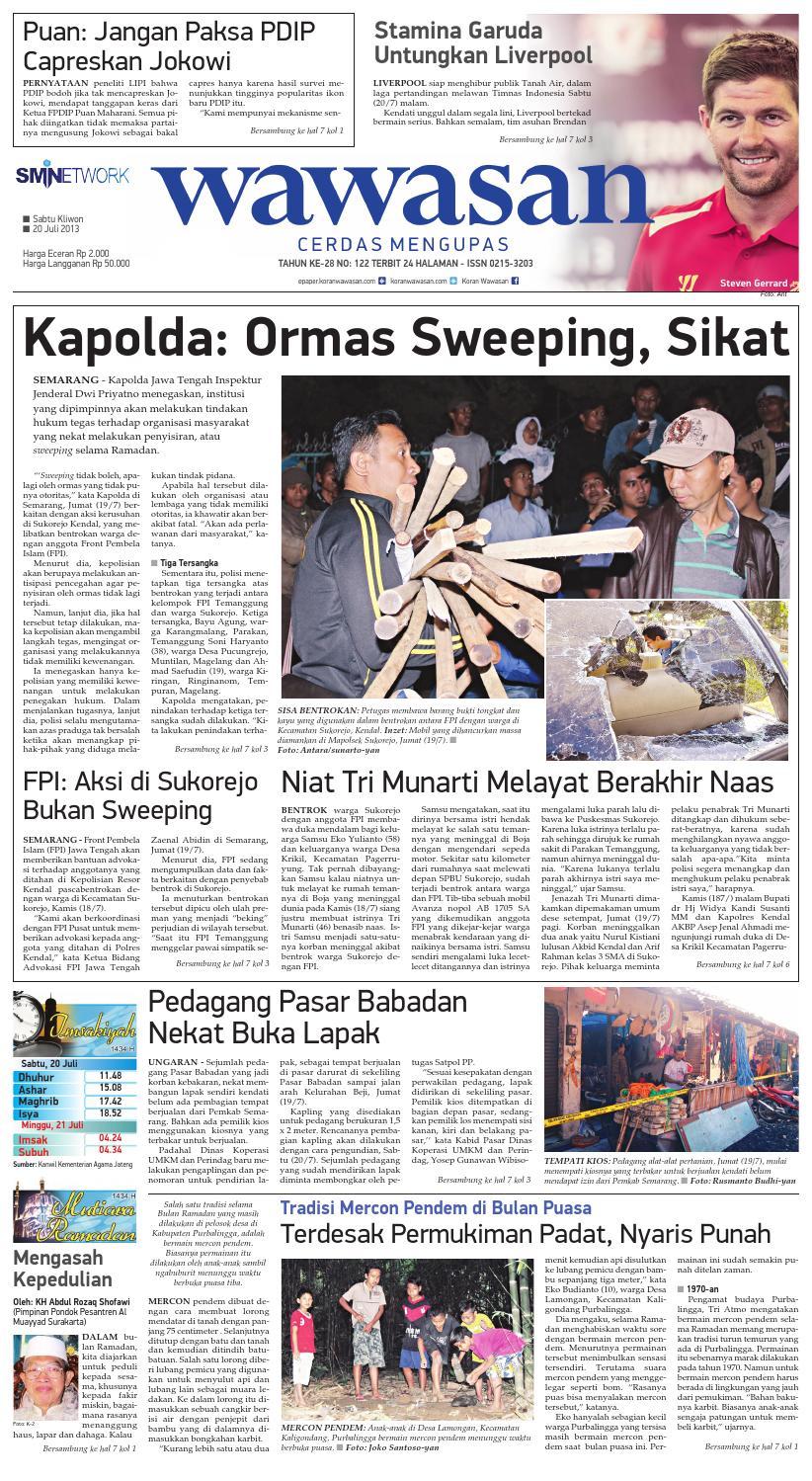 Wawasan 07 Agustus 2013 By Koran Pagi Issuu Produk Ukm Bumn Boetik Art Khimar Tumpuk Tiga 20 Juli