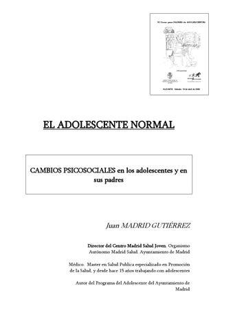 El Adolescente Normal Cambios Psicosociales By Claudia Gutierrez Issuu
