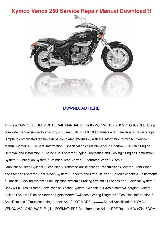 Kymco Venox 250 Service Repair Manual Downloa By Lucretialumpkin Issuu Engine Diagram