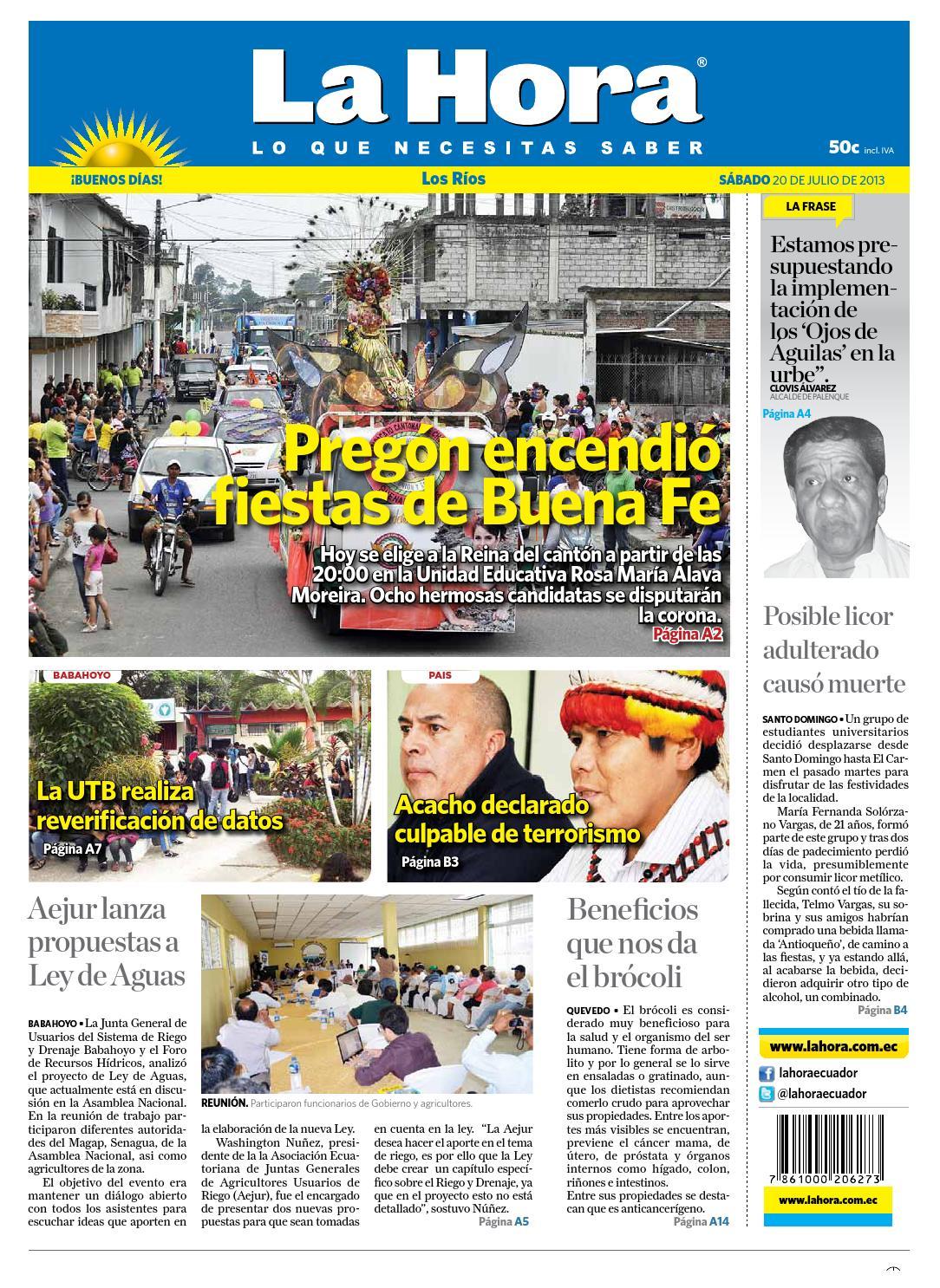 los r237os 20 de julio de 2013 by diario la hora ecuador issuu