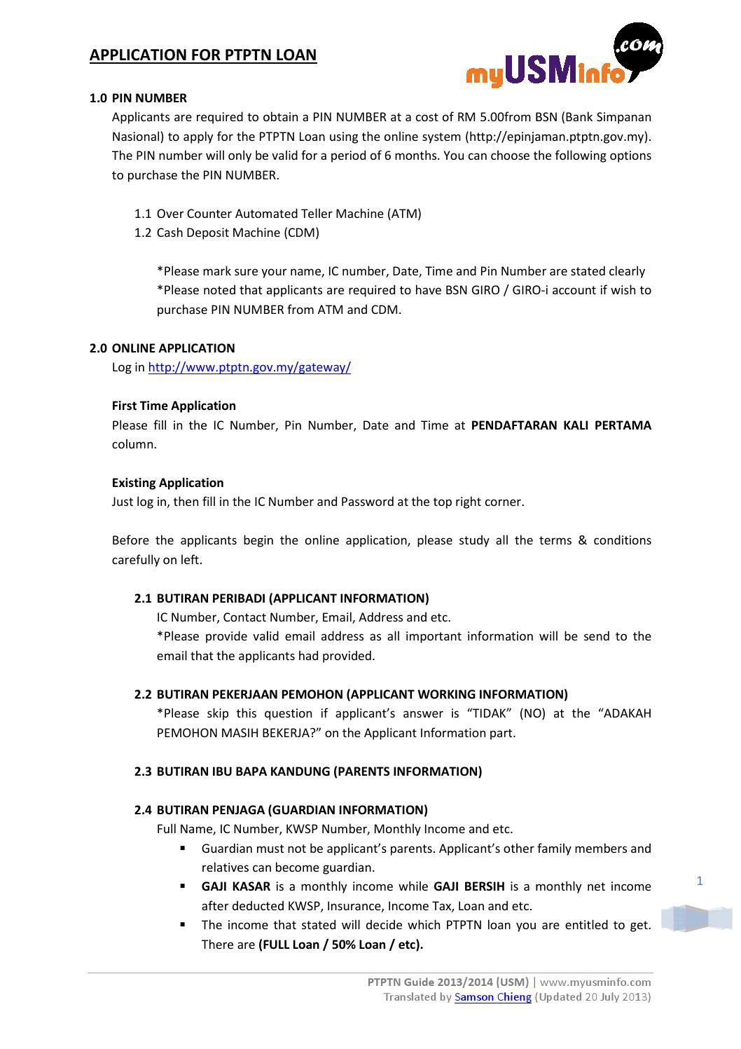 Ptptn Guide 2013 2014 Usm English By Wen Xu Issuu