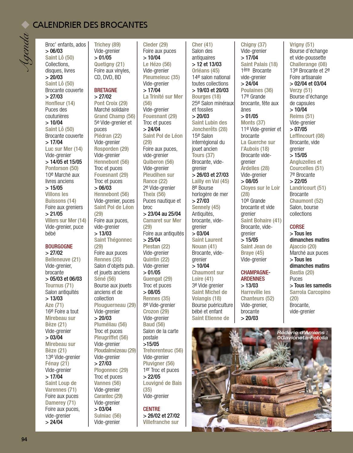 Calendrier Troc Et Puces 56.Antiquites Pratique 7