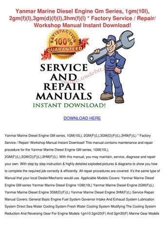 yanmar nico marine gear mgn series service repair manual instant download