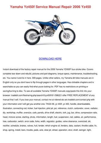2010 yz450f manual free