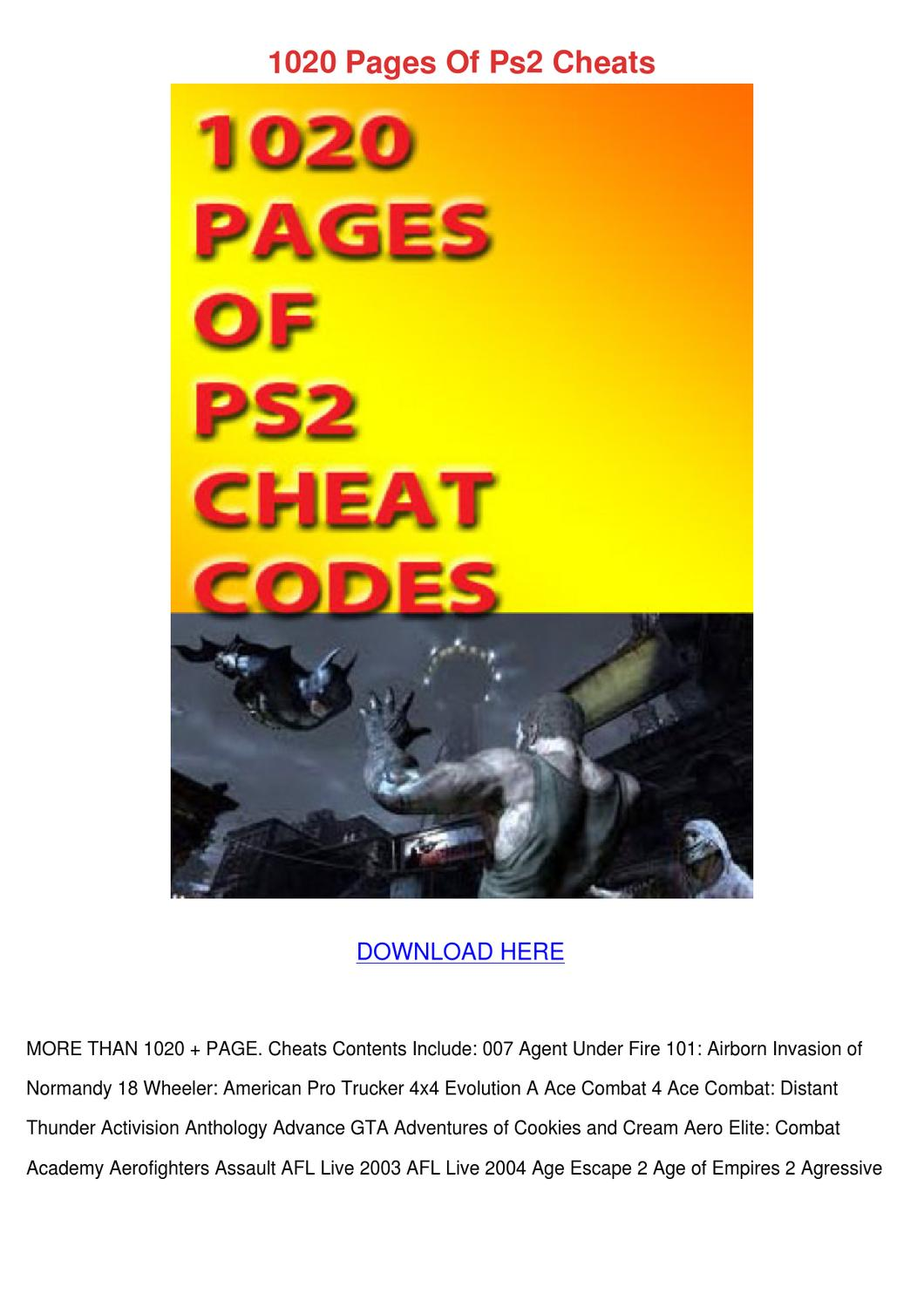 1020 Pages Of Ps2 Cheats by ChesterBunnell - issuu