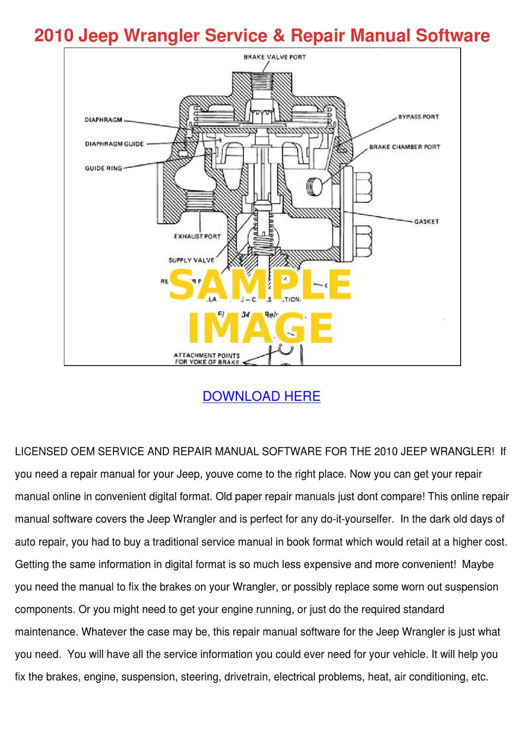 2010 Jeep Wrangler Service Repair Manual Soft by EduardoCoulter ...