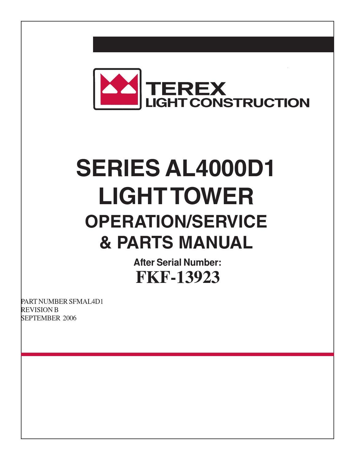 Trailer Wiring Diagram 4 Wire : Terex amida light tower series al d by power