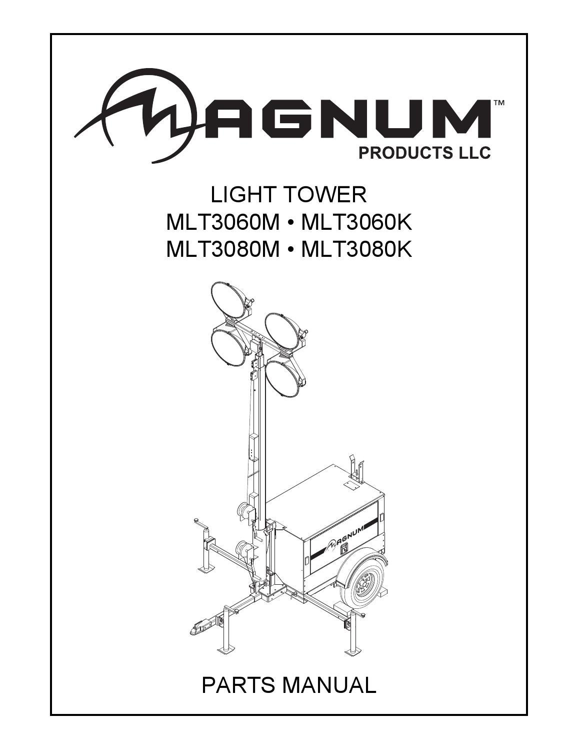 page_1 magnum parts manual by power generation issuu magnum light tower wiring diagram at creativeand.co