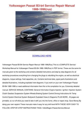 Volkswagen Passat B3 B4 Service Repair Manual by MirtaMcclintock ...