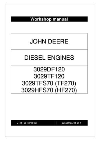 John deere workshop manual for engine 3029 by power generation issuu page 1 workshop manual john deere diesel engines sciox Images