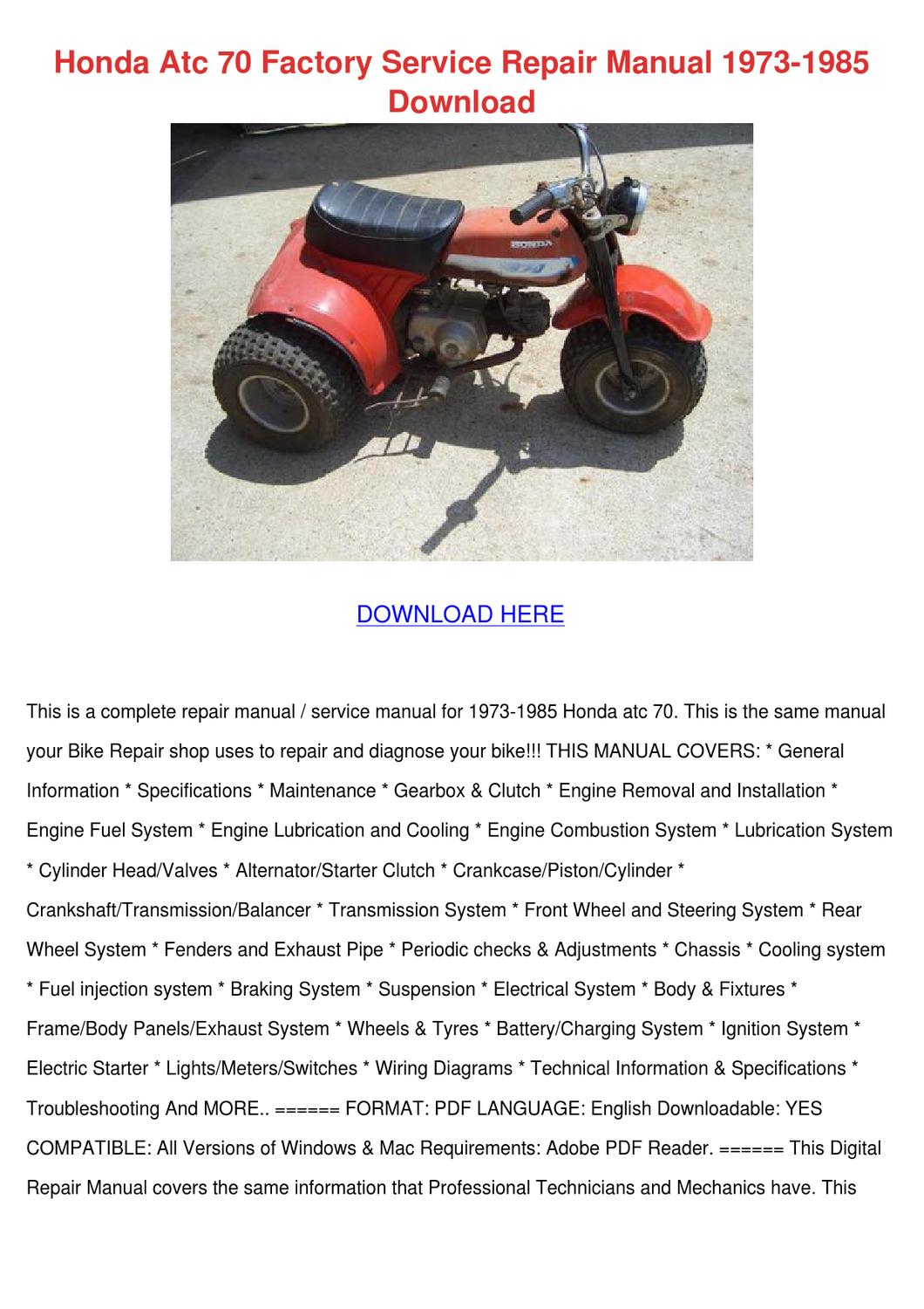 Honda Atc 70 Wiring Diagram from image.isu.pub