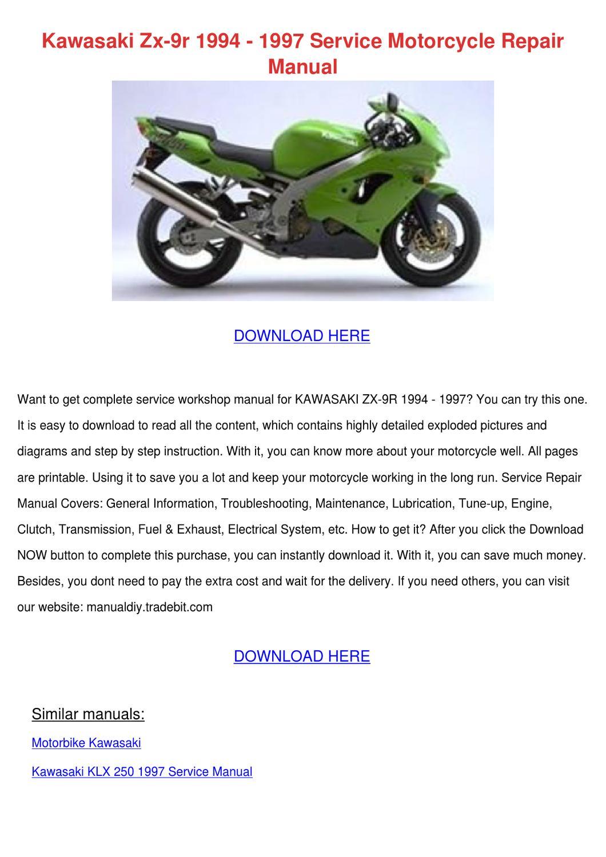 Kawasaki Zx 9r 1994 1997 Service Motorcycle R By border=