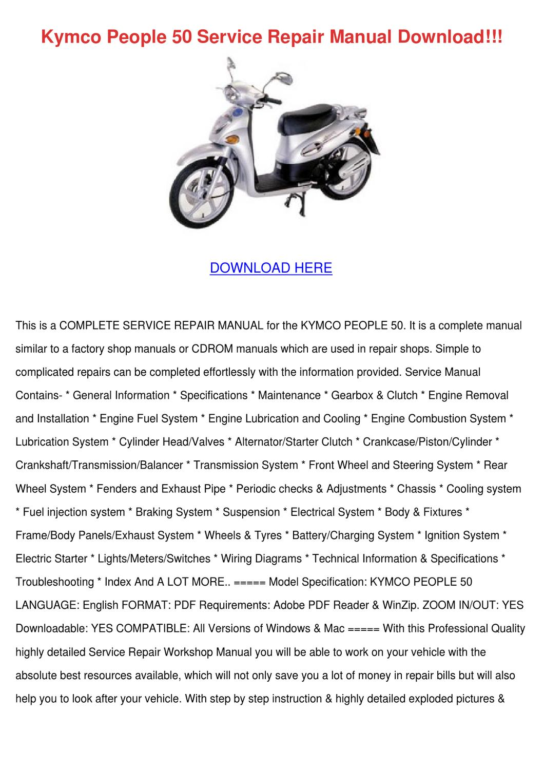 Kymco People 50 Service Repair Manual Downloa by FrederickaEggleston - issuu