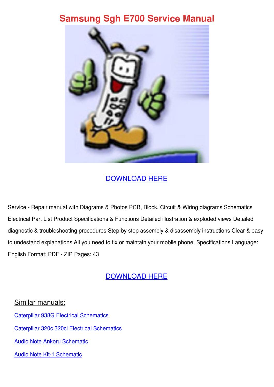 Samsung Sgh E700 Service Manual By Greggforsythe