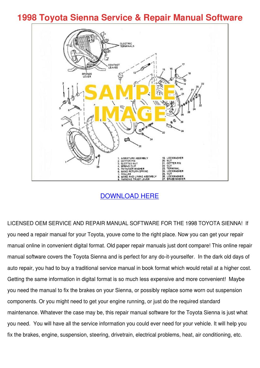 Toyota Sienna Service Manual: Engine assembly