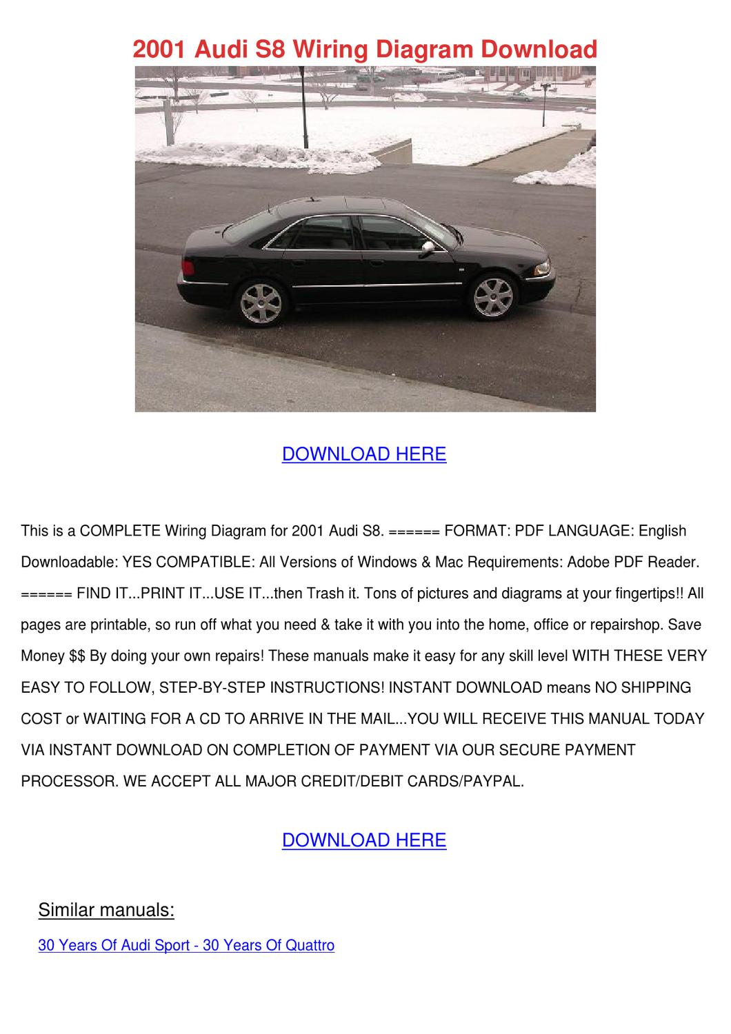 2001 Audi S8 Wiring Diagram Download by MarceloMast - issuu