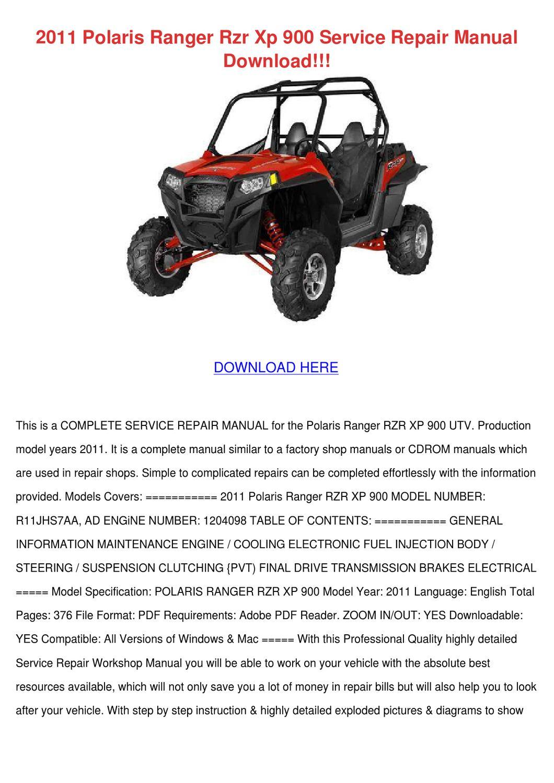 Polaris Ranger 900 Transmission  Wiring  Wiring Diagram Images