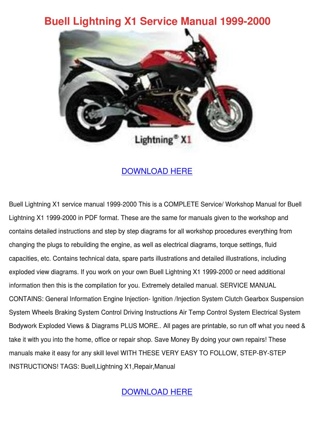 Buell Lightning X1 Service Manual 1999 2000 By Marcelomast Issuu