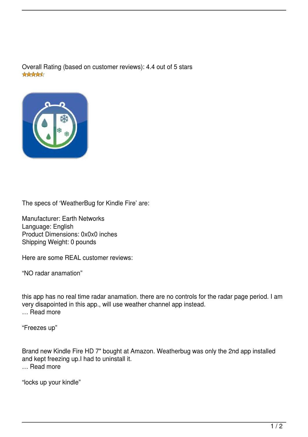 weatherbug for kindle fire review by efbe awham