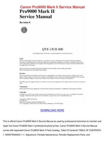 canon pro9000 mark ii service manual by antoniaaguilera issuu rh issuu com