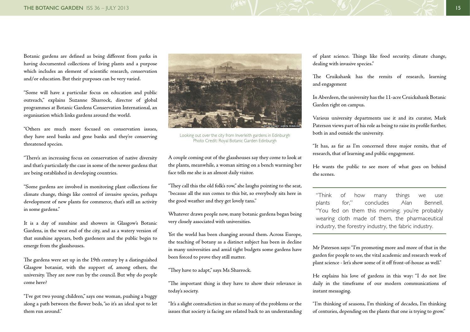 The Botanic Garden - Issue 36 - July 2013 by BGANZ - issuu