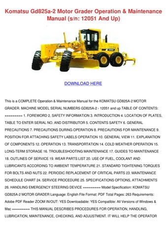 komatsu hd325 5 dump truck service shop manual download