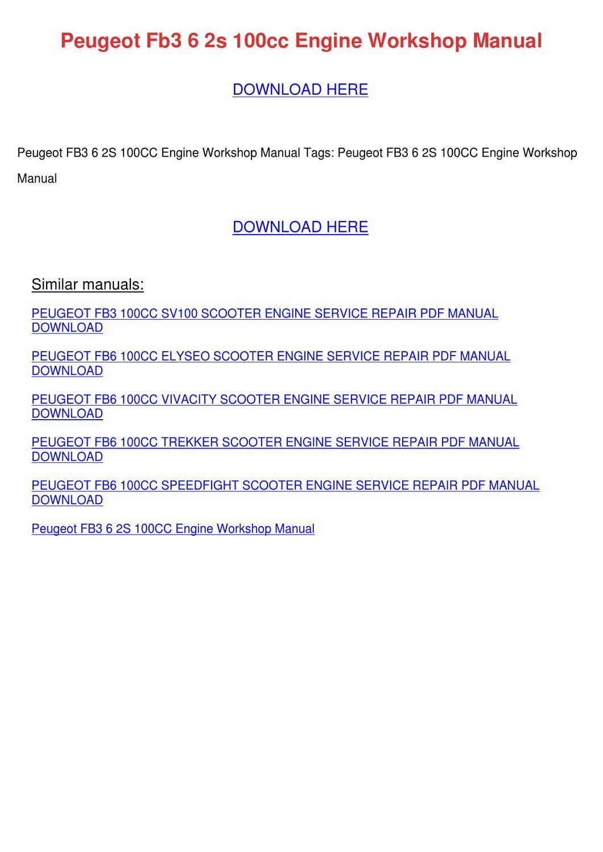 Elyseo Workshop manual