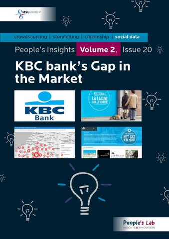 KBC Bank's Gap In The Market: People's Insights Volume 2