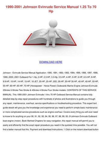 1990 2001 johnson evinrude service manual 125 by andyyocum issuu 1990 2001 johnson evinrude service manual 125 to 70 hp publicscrutiny Choice Image