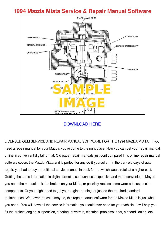 94 Miata service manual