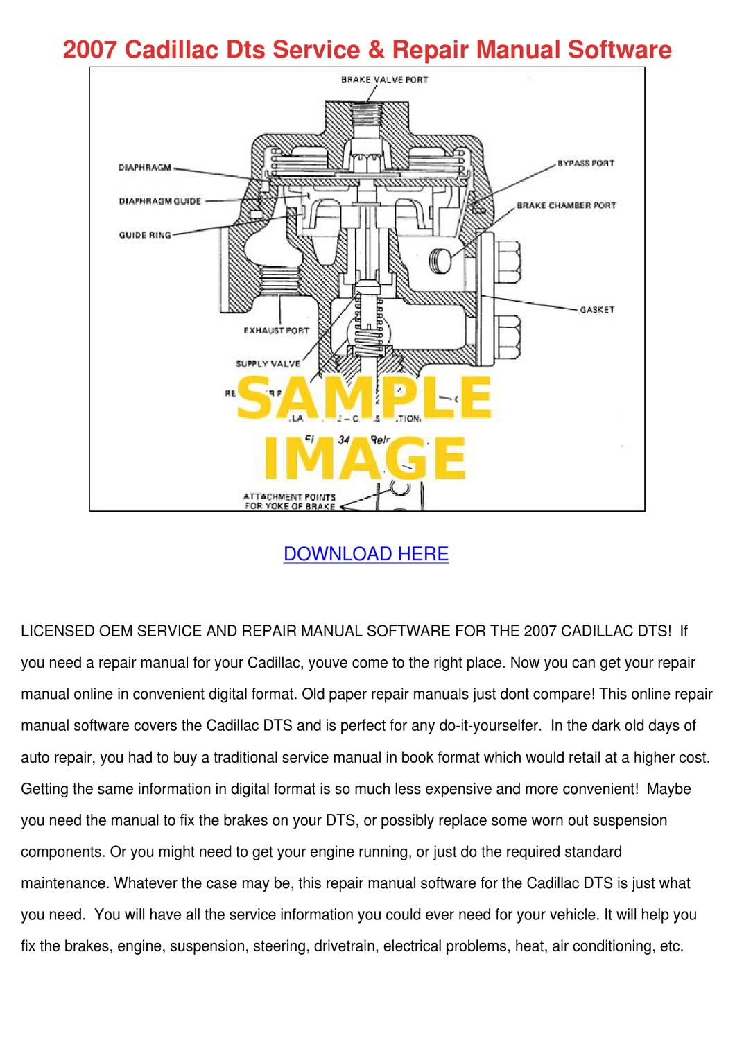 2007 Cadillac Dts Service Repair Manual Softw By Dennychadwick