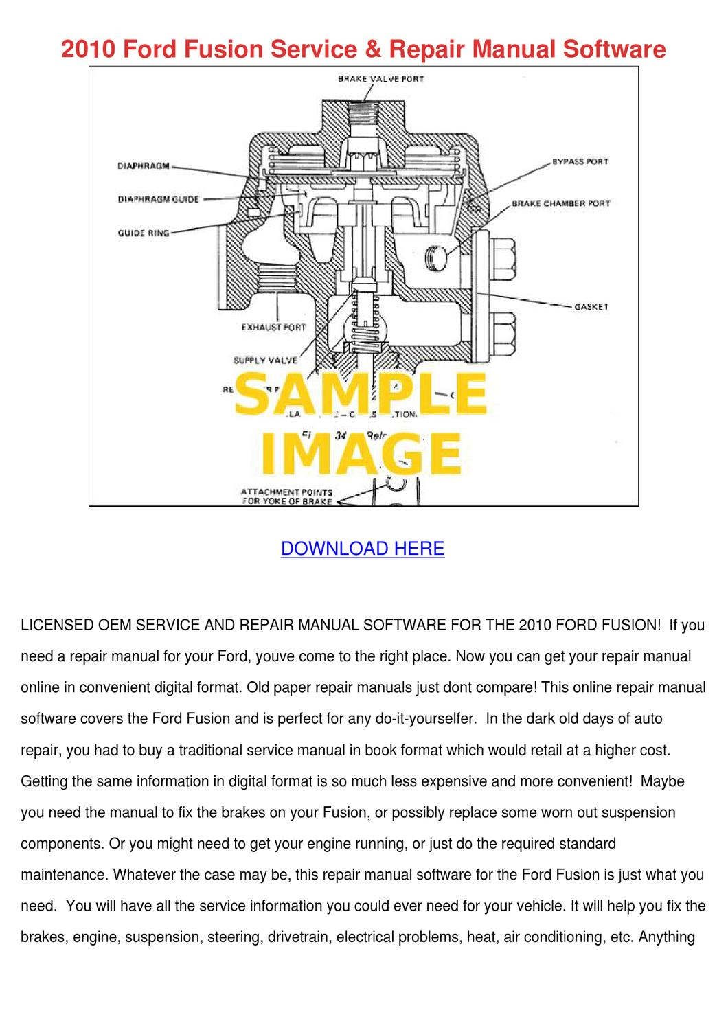 2010 Ford Fusion Service Repair Manual Softwa By Andyyocum