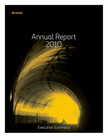 Ferrovial: Annual report 2010 by Ferrovial - issuu