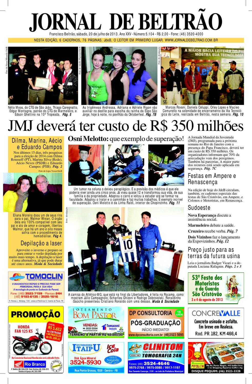 JornaldeBeltrão-5104 20-7-13.pdf by Orangotoe - issuu ee504d54fa670