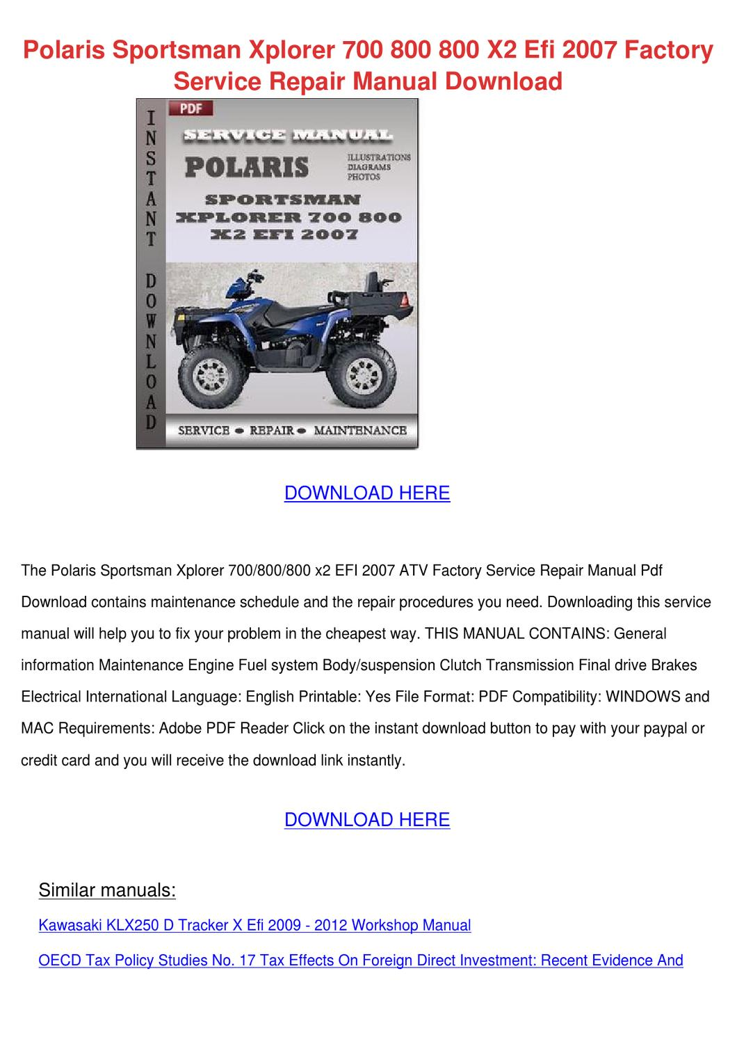 2015 Polaris 800 Sportsman Service Manual Ebook 2008 Twin Wiring Diagram Array Pdf Rh Accountabilitycounseling Com