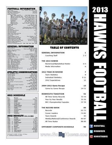 best service 9225b e16f9 2013 Monmouth Football Almanac by Monmouth Athletics - issuu