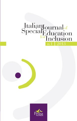 italian journal of special education for inclusion n 1 2013 by